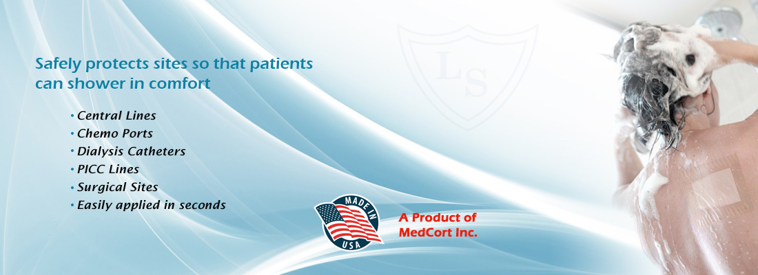 liquashield water resistant picc line and catheter cover